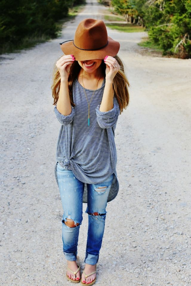 knotted-oversized-striped-shirt
