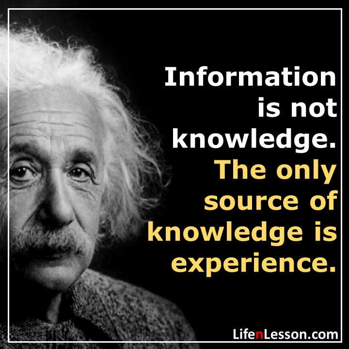 Lesson from Albert Einstien