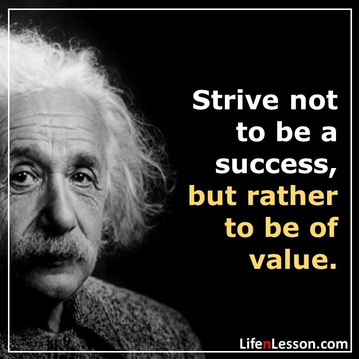 Albert Einstein life lessons