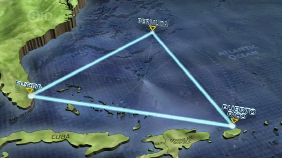 bermuda triangle as a mythical geographic area The us board of geographic names does not recognize the bermuda triangle (an area supposedly bounded by miami, puerto rico, and bermuda), and the navy and coast guard claim that bad weather and human errors explain all the flights and ships lost in that area of the sea.