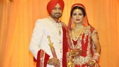 Photo of Harbhajan Singh And Geeta Basra Tie The Knot, Look Stunning Together