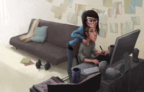 Heartwarming Illustrations About Love and Romance by Zac Retz!3