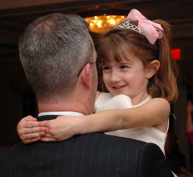 He picked you up during the father-daughter dance at weddings.