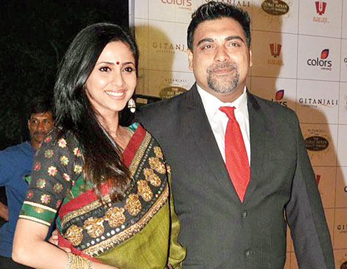Ram Kapoor with his wife
