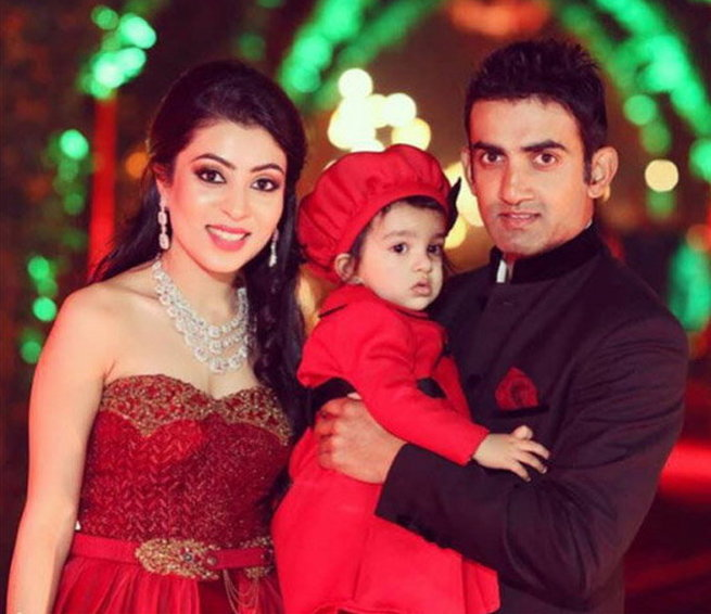Image result for gautam gambhir and wife