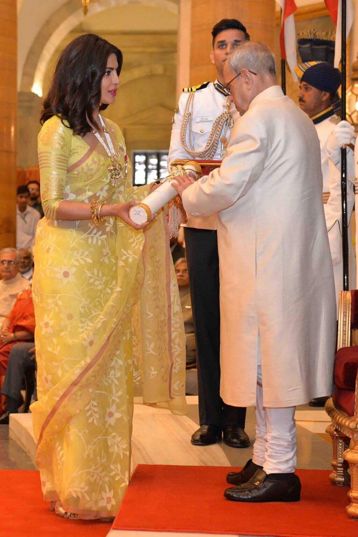 Priyanka Chopra is awarded with Padma Shri