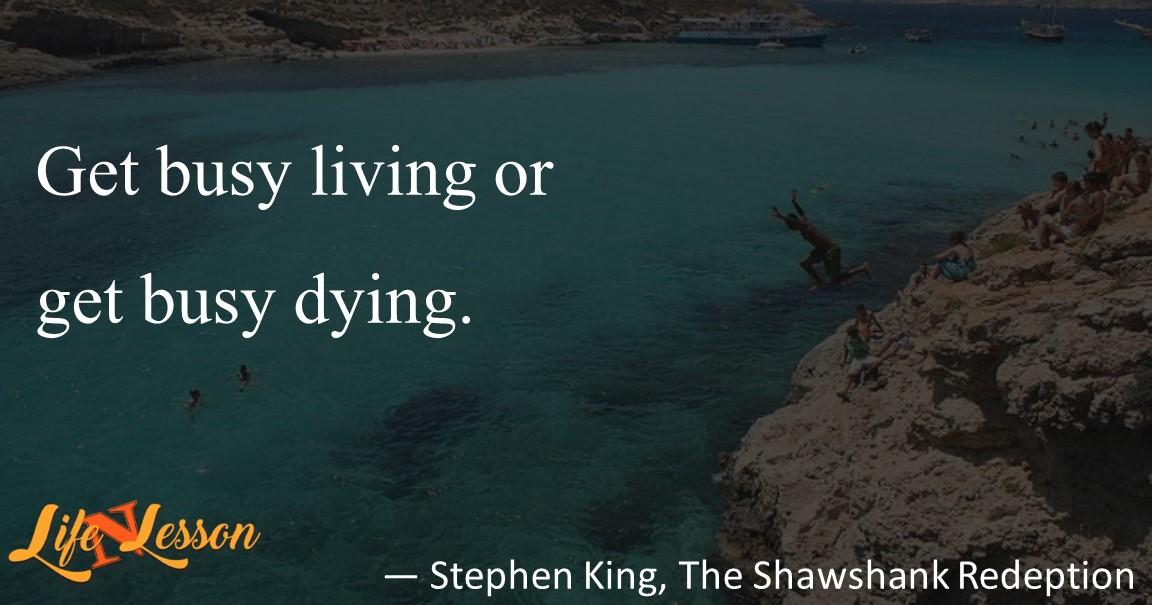 — Stephen King, The Shawshank Redeption