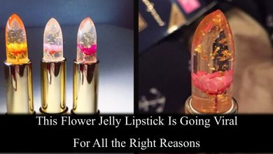Photo of This Gel Lipstick Having Real Flowers Inside ,Changes Color On Lips Depending On Temperature And Skin pH