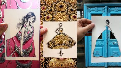 Photo of Fashion Illustrator Uses Clouds And Buildings To Complete His Dress Designs