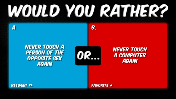 Sex related would you rather questions