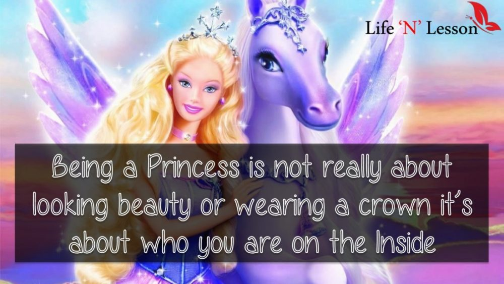 Being a Princess is not really about looking beauty or wearing a crown it's about who you are on the Inside - Princess Quotes