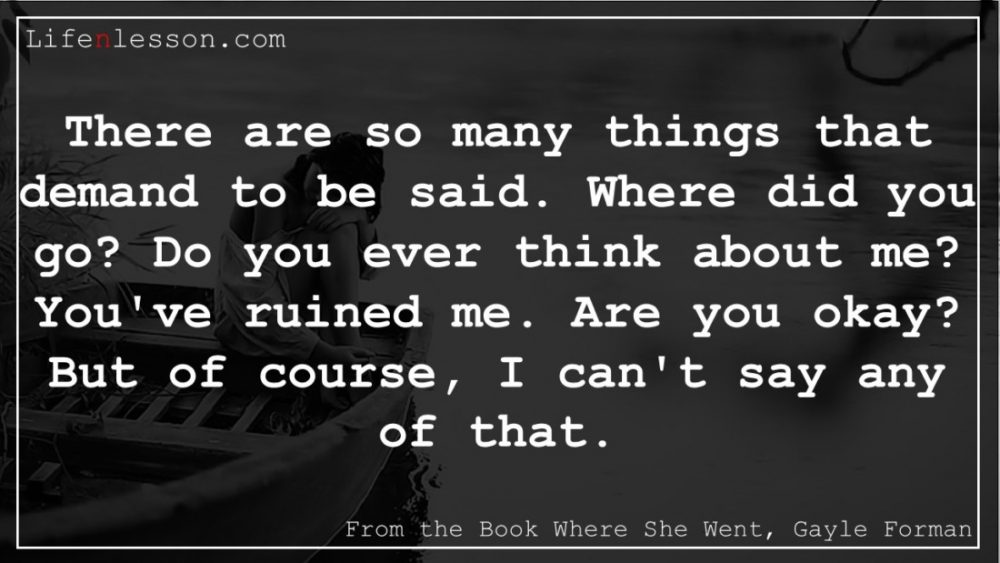 Where She went quotes