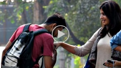 Photo of What Happens When You Kiss Cute & Pretty Girls' Hands Just For A Prank? Watch Video