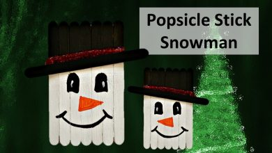 Photo of Popsicle stick Snowman Craft || DIY