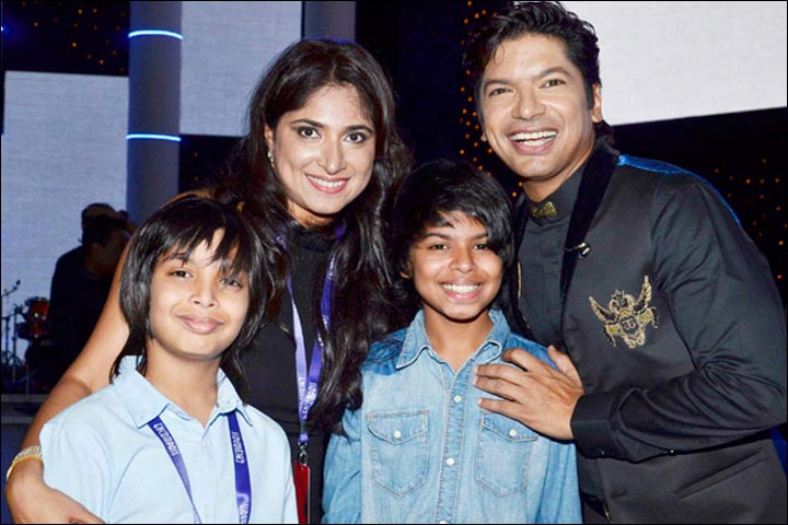 Shaan with his family