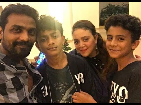 Remo D'souza with his family