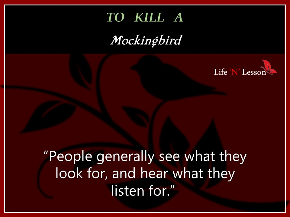 to kill a mockingbird people are not what they seem