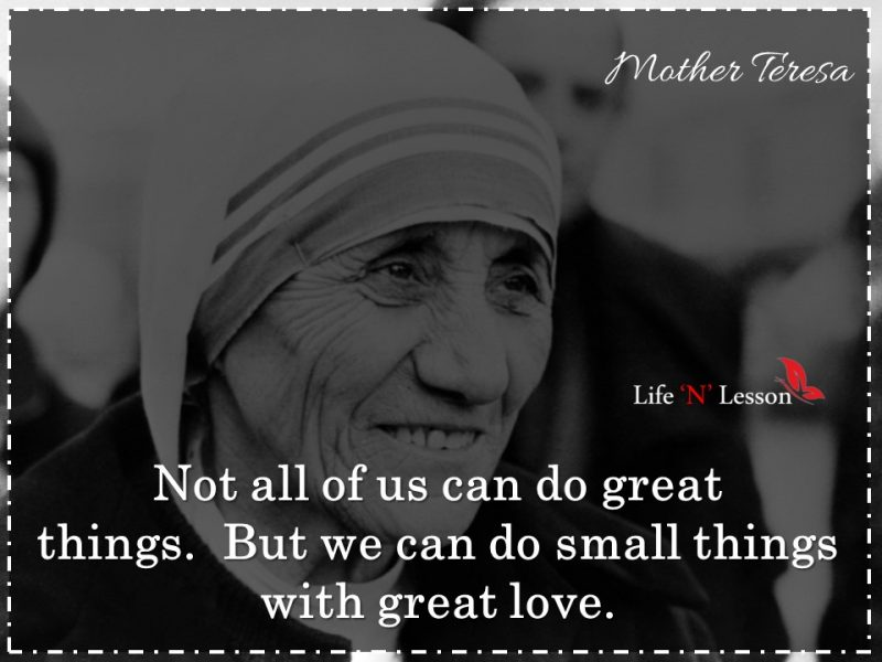 21 Famous Mother Teresa Quotes About Love & Kindness