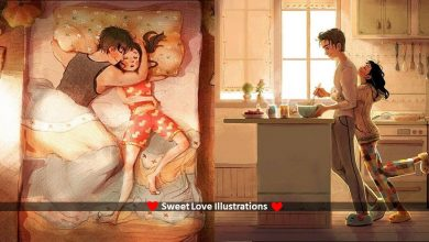 Photo of These Sweet & Beautiful Love Illustrations Captures Day to Day  Experience of Couples in Love.