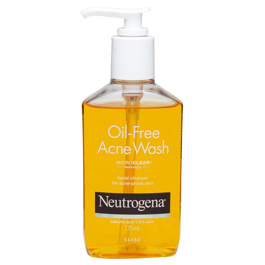 Neutrogena face wash acne