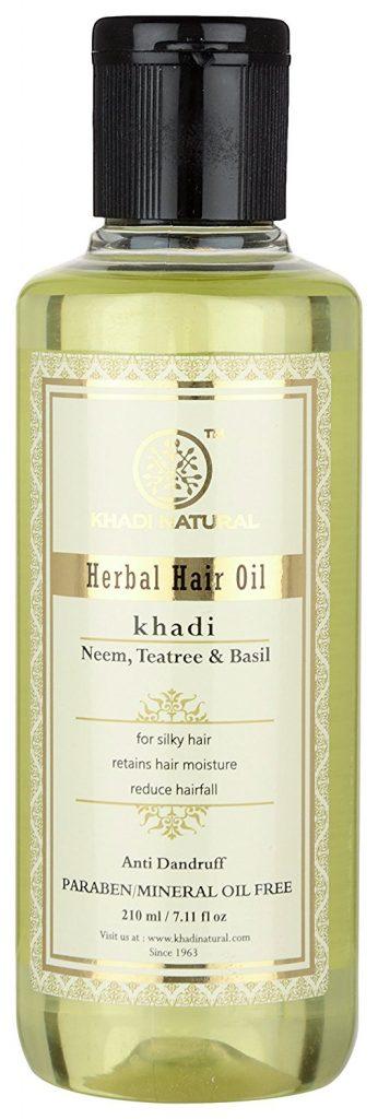 Khadi Neem Teatree and Basil Hair Oil