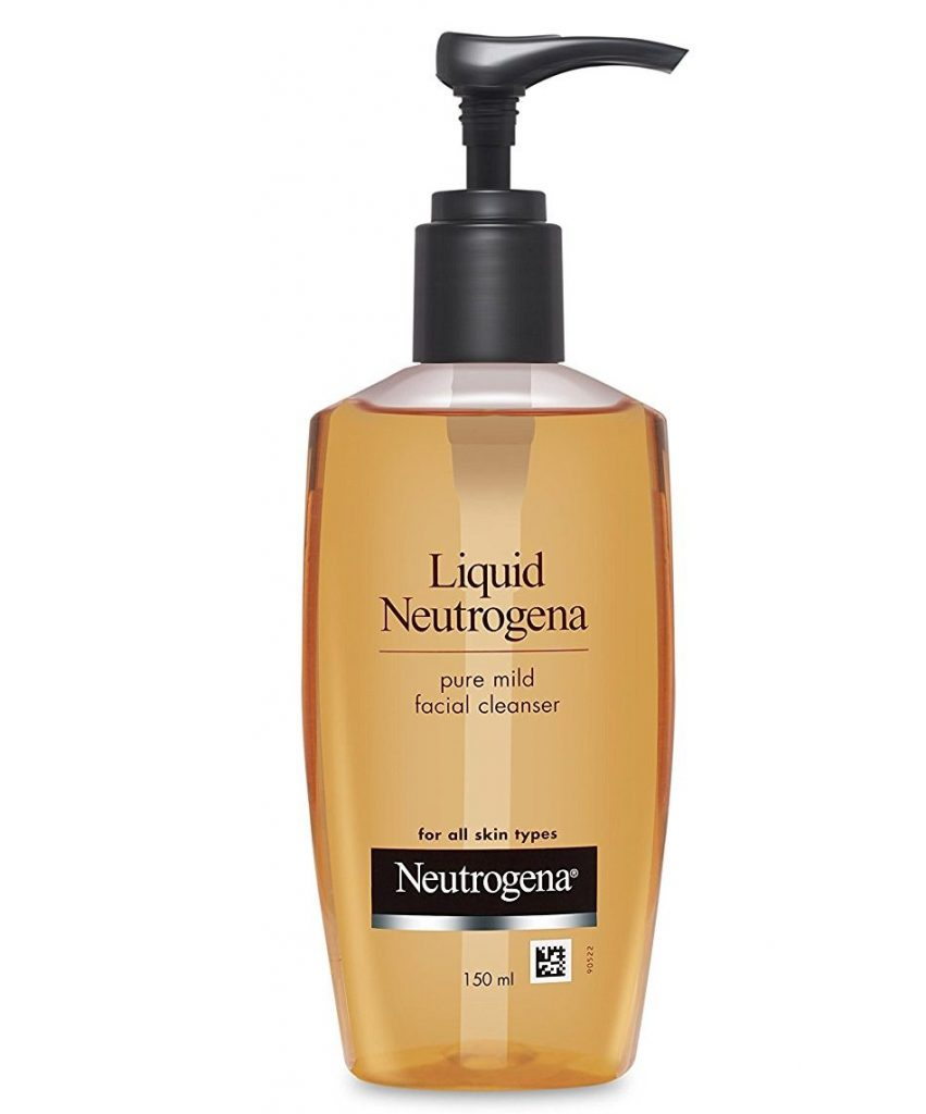 Liquid Neutrogena Mild Facial Cleanser