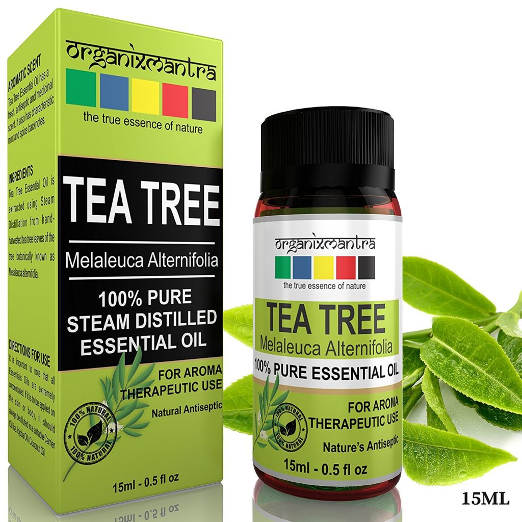 Organix Mantra Tea Tree Essential Oil for Skin, Hair, Face, Acne Care