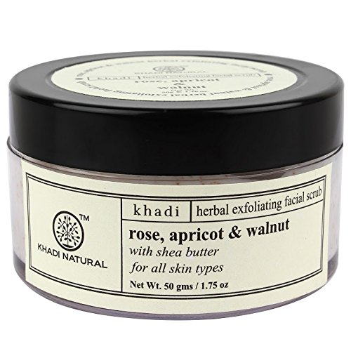 Khadi Natural Apricot and Walnut Cream Scrub with Rose