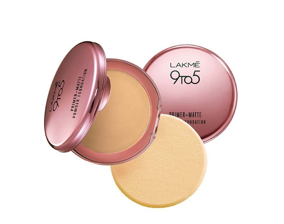 Lakme 9 to 5 Primer with Matte Powder Foundation Compact