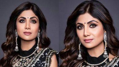 Photo of Shilpa Shetty Looks Stunning in Black Saree