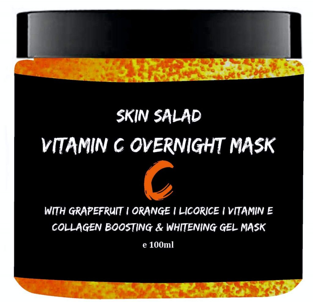 SkinSalad Vitamin C Face Mask with Grapefruit, Orange and Licorice Extract