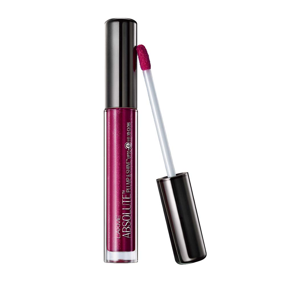 Lakme Absolute Plump and Shine Lip Gloss, Plum Shine