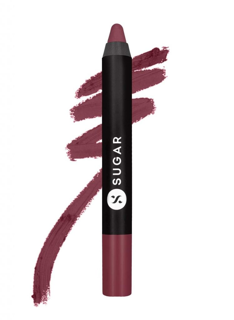 SUGAR Cosmetics Matte As Hell Crayon Lipstick, Lily Aldrin