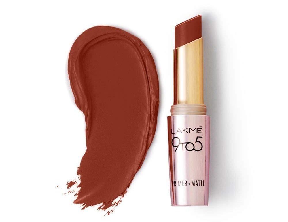 Lakme 9 to 5 Primer Matte Lip Color, Choco Break