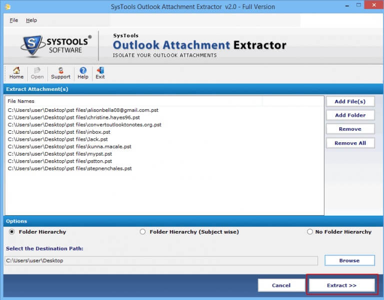 extract outlook pst attachments
