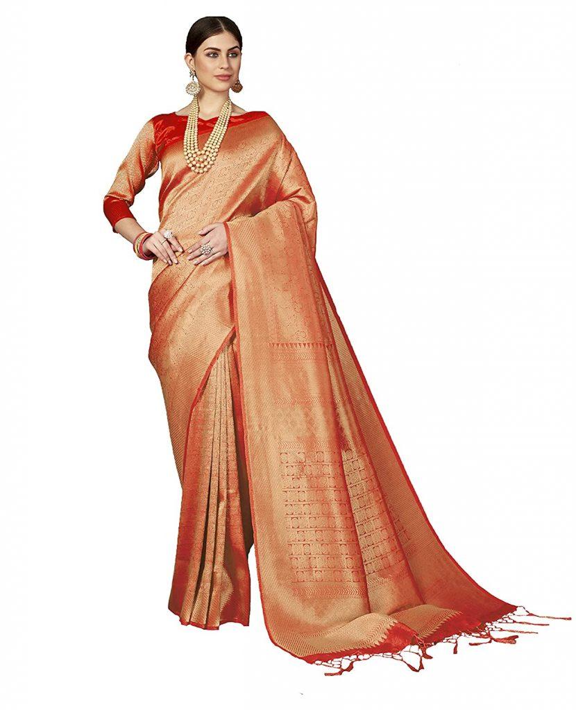orange Kanjeevaram
